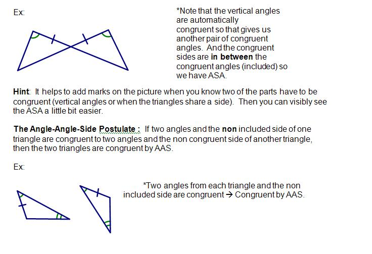 cosgeometry lesson 4 05 triangle congruence by asa and aas. Black Bedroom Furniture Sets. Home Design Ideas