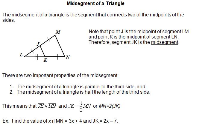 Medians and Midsegments in Triangles Partner Worksheet by Mrs E ...
