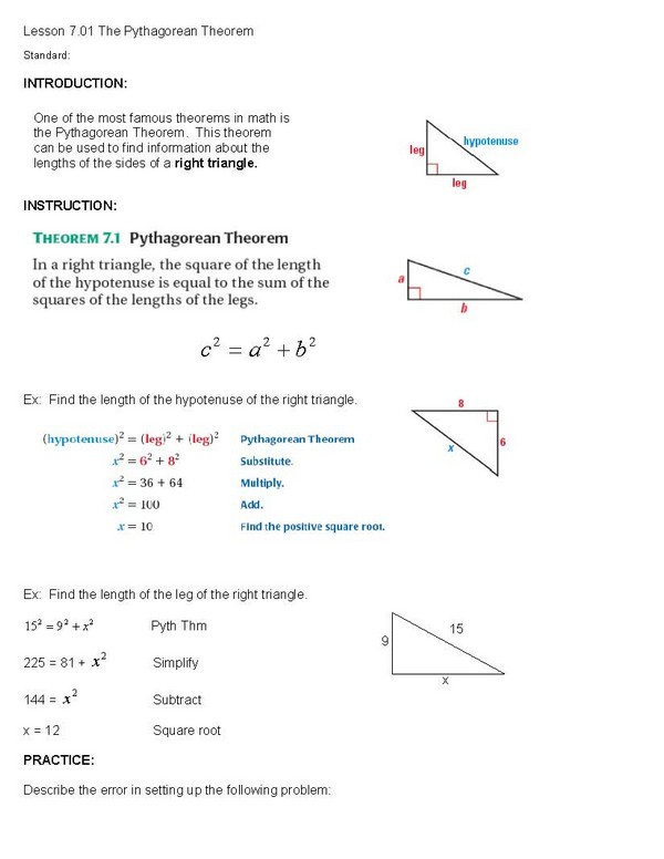 pythagorean theorem coloring activity pages - photo #36