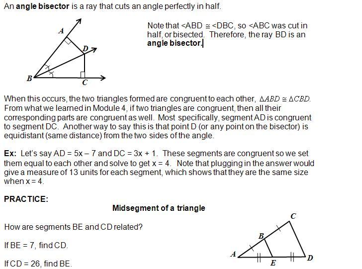 Cosgeometry Lesson 5 01 Triangle Midsegment Theorem