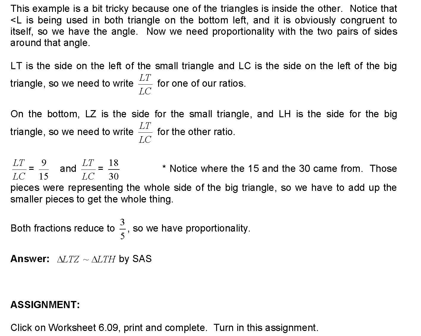 Worksheets Proving Triangles Similar Worksheet cosgeometry lesson 6 09 proving triangles similar by sas download worksheet 09
